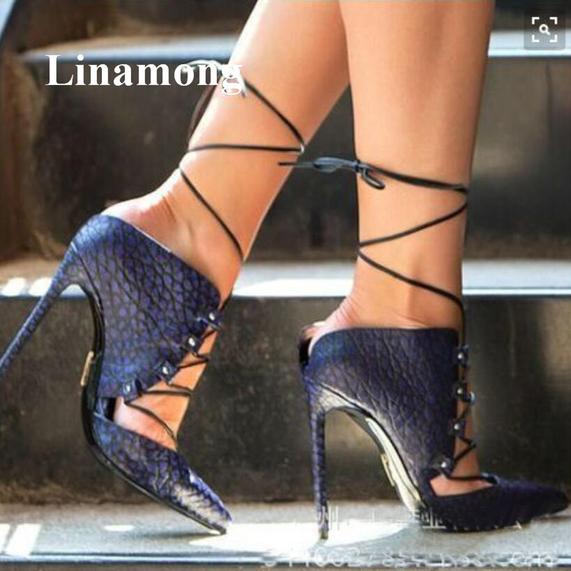 2018 Pointed Toe Fashion Cross-tied Solid Thin High Heel Fashion Sexy Summer Women Sandals Supper High Heel normal size sandals 2018 summer fashion fretwork long tube thin high heel sexy women boots solid fashion sexy sandals two color women boots sandals