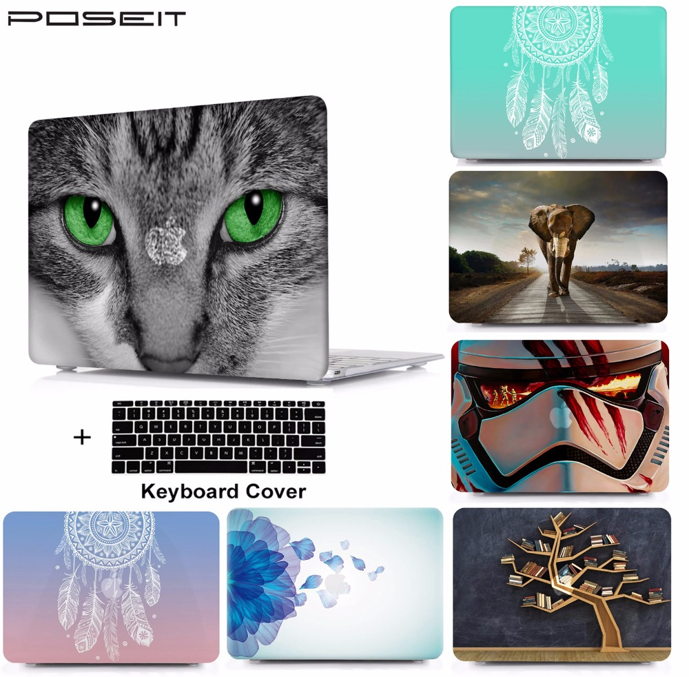 2019 New Laptop Protective Hard Shell Case Keyboard Cover Skin Set For 11 12 13 15 quot Macbook Air Pro Retina Touch Bar A1932 A1989 in Laptop Bags amp Cases from Computer amp Office