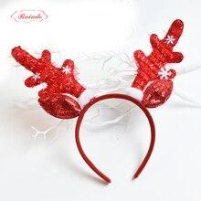 Raindo 2017 HOT Christmas Kids Headbands For Girls Fabrics Lovely Deer Antlers Hair Hoop Hairbands Xmas Decor Hair Accessories