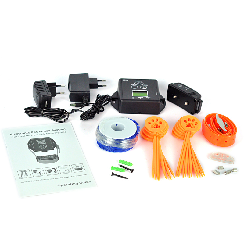 electronic wireless inground pet fencing controller safety system dog training collar fence containment system