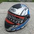 2016 Новый SHOEI Гонки шлем Модульная Двойной линзы Мотоциклетный Шлем анфас Сейф шлемы Каско capacete шлем moto