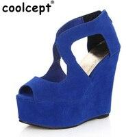 Coolcept Sexy Women Sandals Summer Platform Sandals High Wedges Sandal Shoes Women Ladies Sandal Women Summer