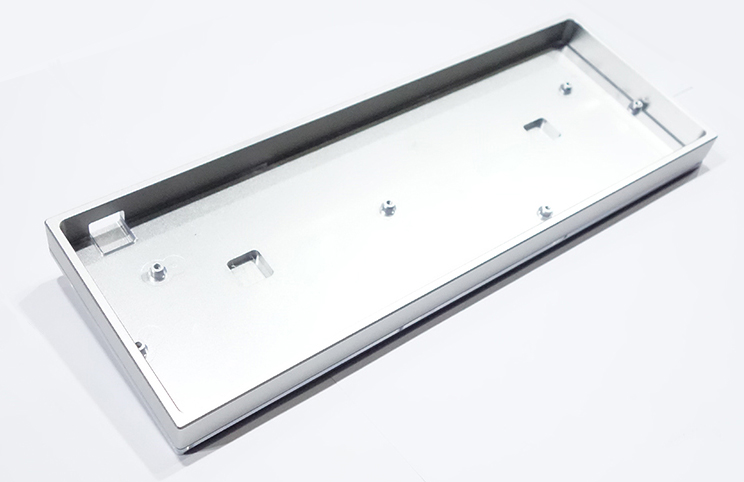 GH60 Anodized Aluminum Shell CNC Metal Case Side Shine Through for 60 Mechanical Keyboard