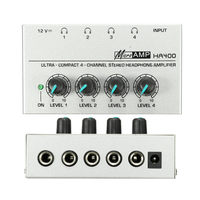 Onsale 1pc HA400 Ultra Compact 4 Channel Headphone Audio Stereo Amp Microamp Amplifier EU Adapter Mayitr