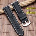 Silicone watch band strap 38mm 42mm para apple iwatch mens watchband branco linha vermelha costura suave mergulhador à prova d' água substituição