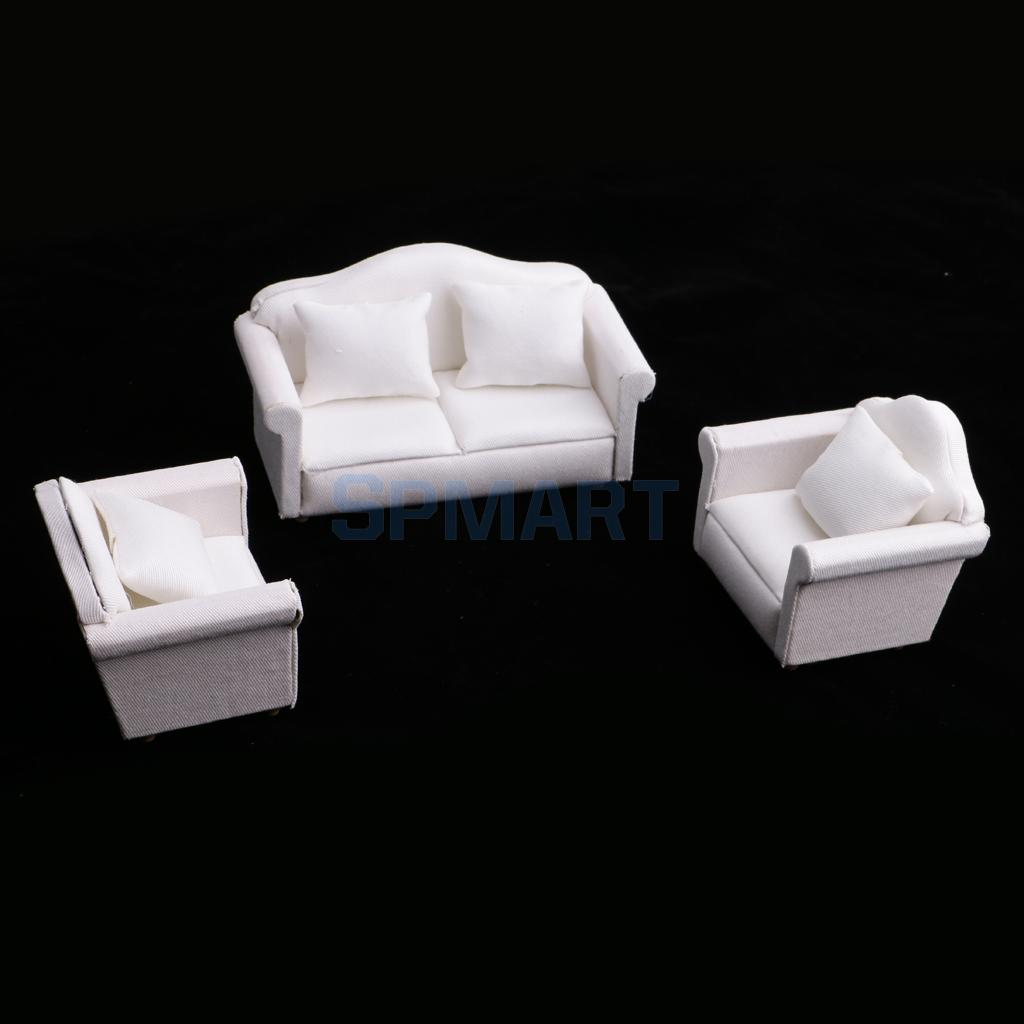1/12 Scale Dollhouse Living Room Furniture Seat Sofa And