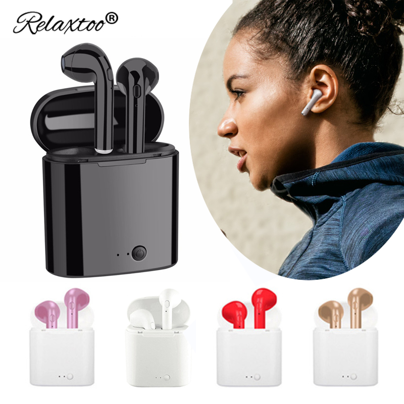 In-Ear wireless Earbuds bluetooth earphone sport mp3 Stereo bloototh headset For iPhone 7 8 x xiaomi mi 8 mi8 Android head phone 3 5mm in ear stereo headphone for cell phone earbuds earphone headset for iphone ipod mp3