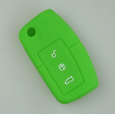 Силиконовый чехол ключ автомобиля дистанционного чехол для Ford Fiesta Фокус Mondeo Ecosport Kuga