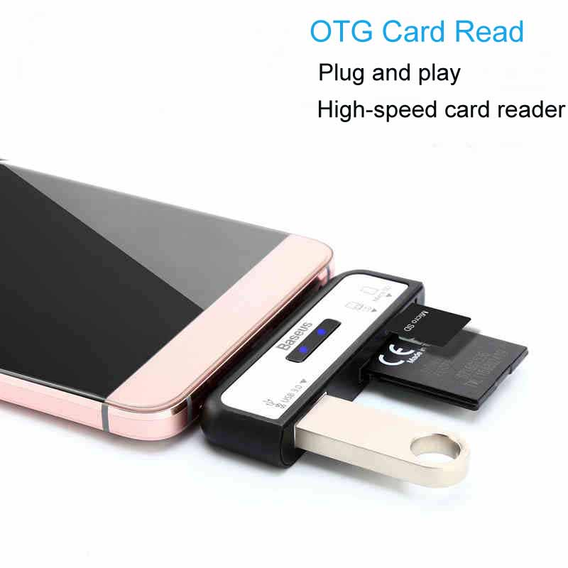 High Speed USB 3.1 Type-c OTG Card Reader Type C USB-C Male To USB 3.0 OTG TF SD Adapter For OTG Phone Macbook 668 usb 3 1 type c card reader
