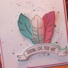 Eastshape Feather Metal Cutting Dies Scrapbooking Craft Card Making Album Embossing Stencil Die Cut Decor 2019