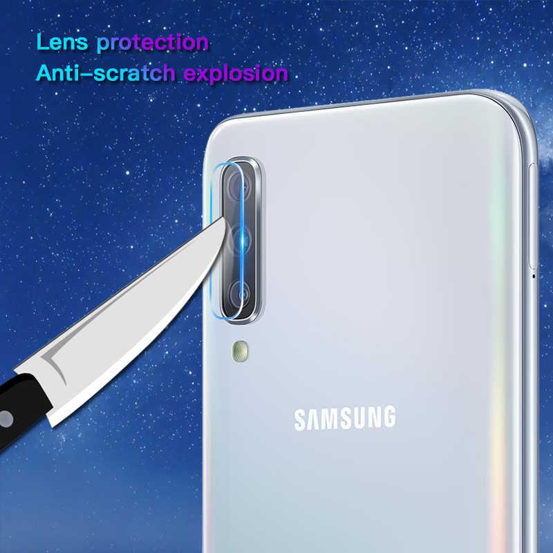 2 em 1 vidro de proteção para samsung galaxy a50 a30 a70 câmera protetor de tela lente segurança vidro temperado a20 a10 m10 m20 m30