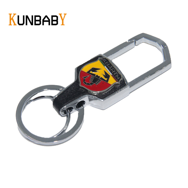 Metal Alloy Key Chain Key Ring car logo Keychain pendant Key Holder Fit For FIAT