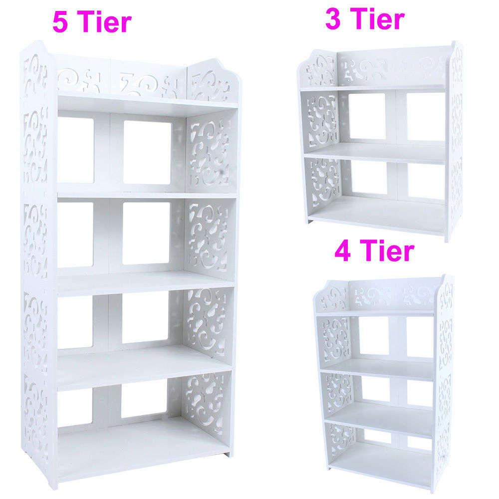 White PVC Carving Shelf Storage Home Organizer 3/4/5 Tier Shoe Shoes Rack  Holder In Shoe Racks U0026 Organizers From Home U0026 Garden On Aliexpress.com |  Alibaba ...