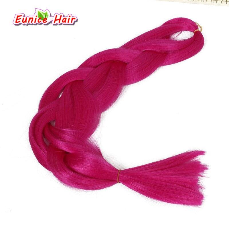 22 Colors 82inches Synthetic Jumbo Braids Hair 165g/Pack Kanekalon Blonde Crochet Braiding Hair Extensions #1B #613 #27 #30