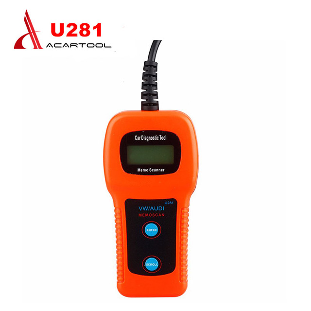 2016 Memoscan U281 for A UDI VW SEAT CAN-BUS OBD2 OBDII Code Scanner U281 OBD2 Engine Code Reader CAN BUS OBD2 Scan tool