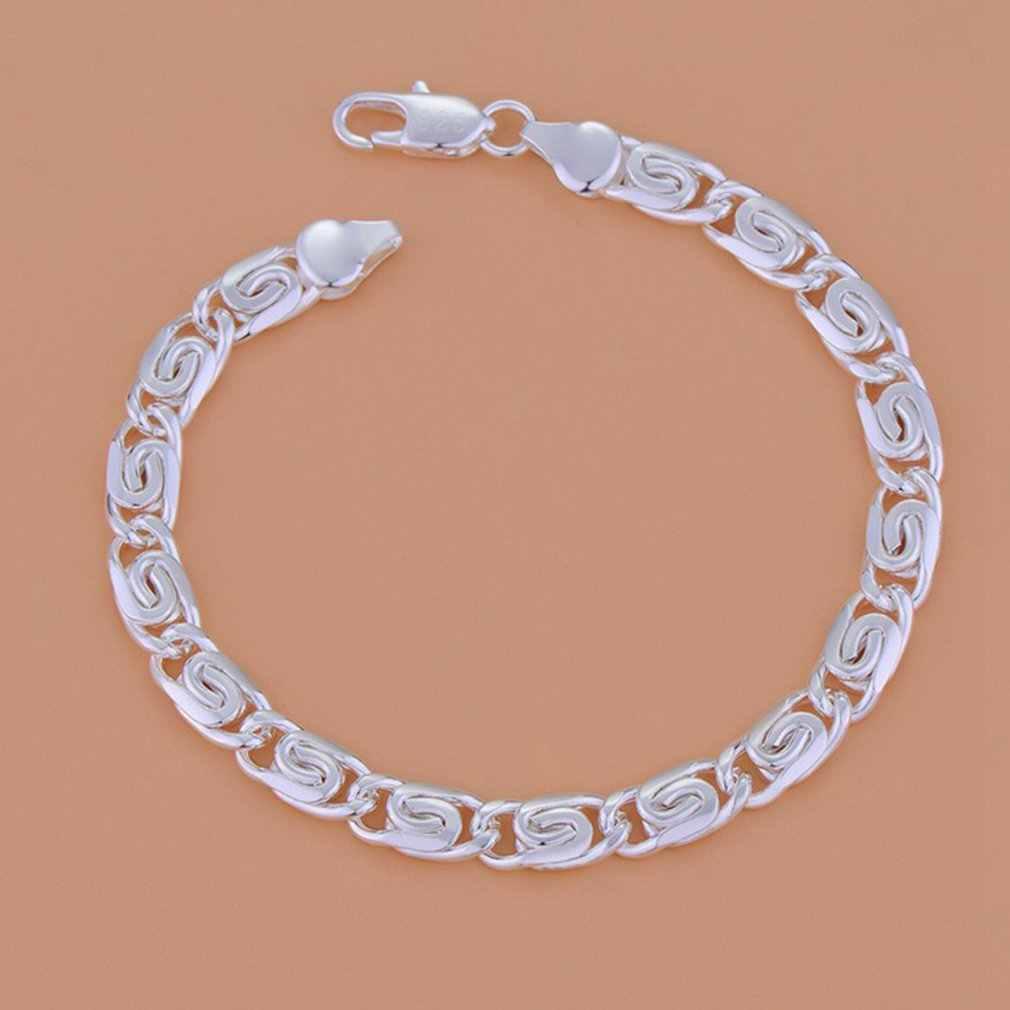 GENBOLI bransoletka męska srebrny kolor bransoleta i bransoleta ze stali nierdzewnej męskie akcesoria Hip Hop Party Rock Jewelry