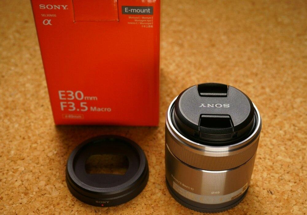 Sony E 30mm f/3.5 Macro Lentille SEL30M35 Pour A5000 A5100 A6000 A6300 A6500 A7S A7R