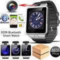 Caixa original cartão sim smartwatch dz09 smart watch com câmera relógio de pulso do bluetooth para apple ios e android phone