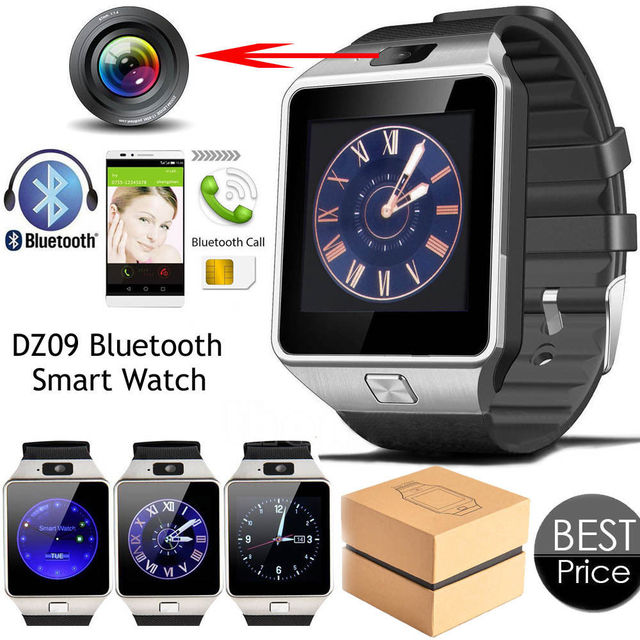 Original Box DZ09 Smart Watch With Camera WristWatch Bluetooth SIM Card Smartwatch for Apple ios and Android Phone