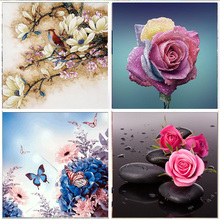 5D DIY Diamond Painting Full Colorful Flower Embroidery Set Mosaic Cross Stitch picture Rhinestone Home Decoration Gifts
