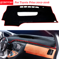 Car Styling Dashboard Avoid Light Pad Polyester For Toyota Prius 2012 2016 Instrument Platform Desk Cover