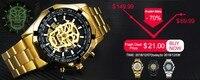 победитель элитный бренд для мужчин автоматический деловые часы кожаный ремешок римские цифры скелет башня серии человек наручные часы