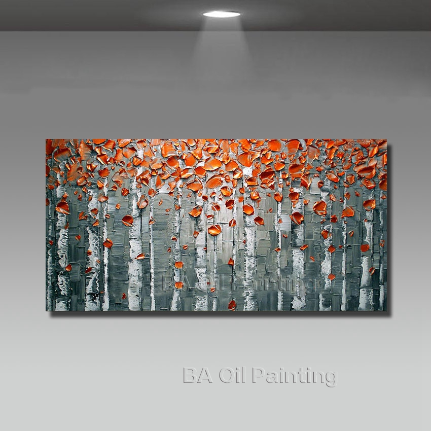 big size modern hand painted flower canvas oil painting picture cuadros wall art home decor for living room no frame