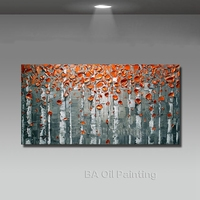 Big Size Modern Hand Painted Flower Canvas Oil Painting Picture Cuadros Wall Art Home Decor For