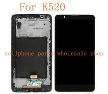 Für lg stylus 2 k520 ls775 lcd display mit touch glas digitizer frame assembly pantalla schwarz farbe