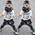2 pieces Children Baby Child Sweater T + Pants Suits Casual Clothing Summer in September 2016 NEW Fashion
