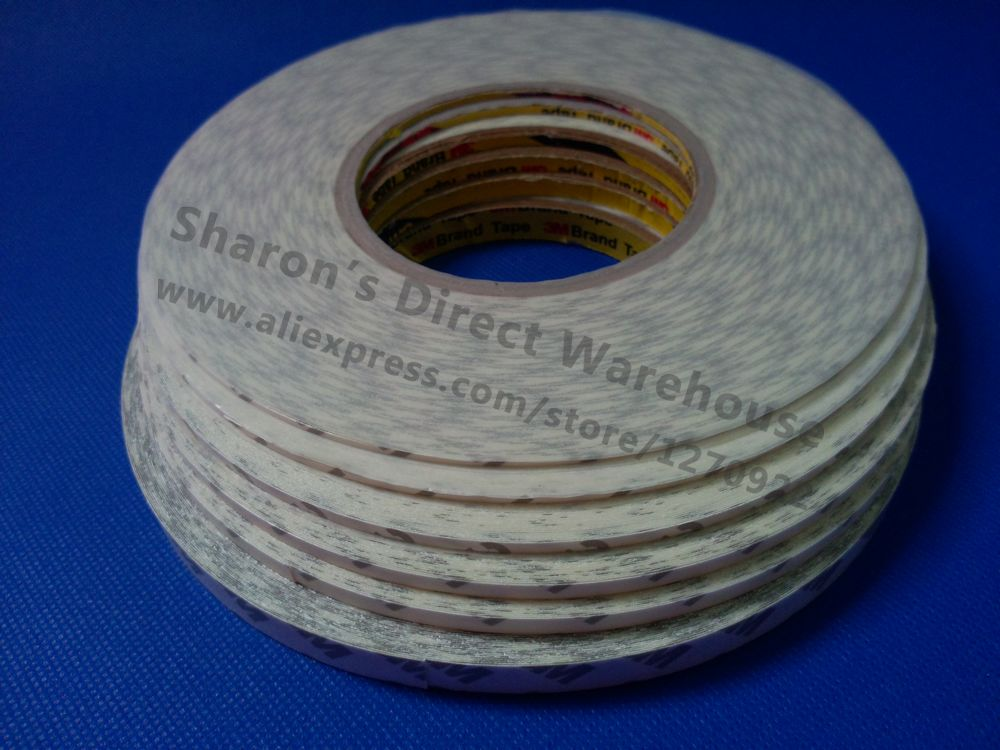 10x 5mm*50M 3M 9080 2 Sides Sticky Tape for LED Strip Electrics Control Panel LCD Display Nameplate Assemble Free Shipping wholesale 5x 5mm 50m 3m 9080 double sides sticky tape for led strip phone lcd touch display screen panel adhesive free ship
