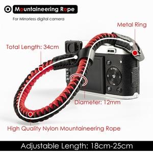 Image 4 - Leo Núi Nylon Dây Máy Ảnh Cổ Tay Cầm Tay Dây Cho Máy Ảnh Mirrorless KTS Leica Canon Nikon Olympus Pentax Sony