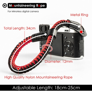 Image 4 - Mountaineering Nylon Rope Camera Wrist Hand Strap Belt for Mirrorless Digital Camera Leica Canon Nikon Olympus Pentax Sony