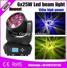 2 шт./лот новые привет-качество 6×25 Вт Moving луч света 100-240 В