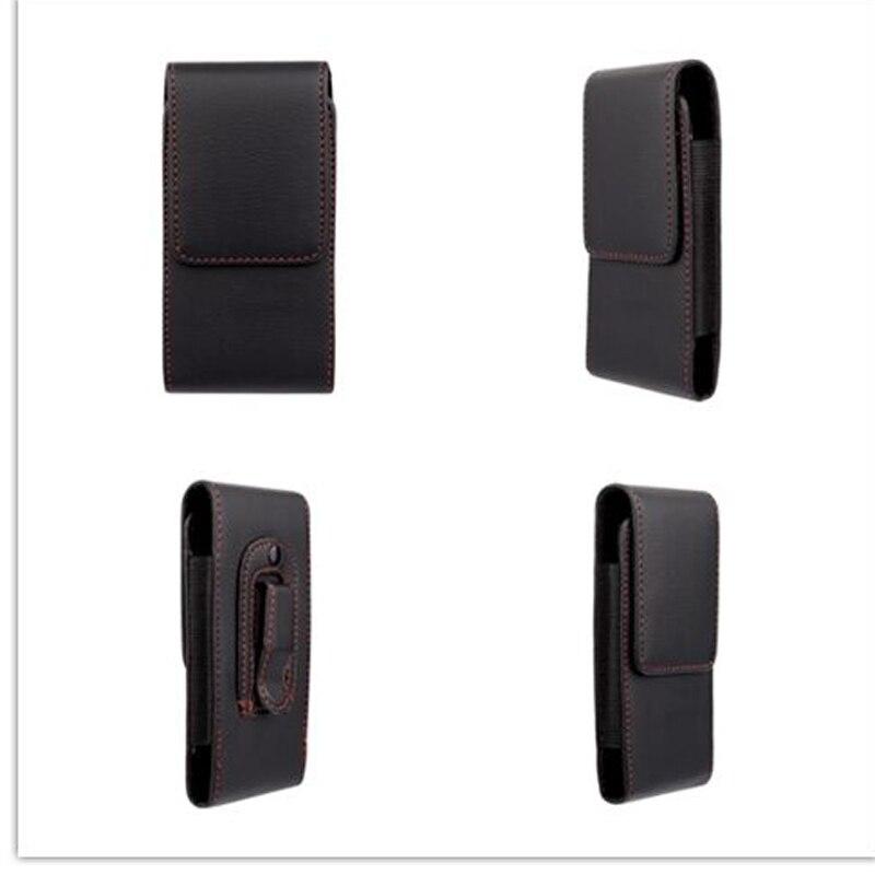 e7e02057744d2 جديد الأحمر الحدود الأعلى الجودة العالمي الحافظة الجلد الخصر شنقا حزام كليب  حالة جلدية الحقيبة غطاء ل evolveo xtraphone 4.5 q4