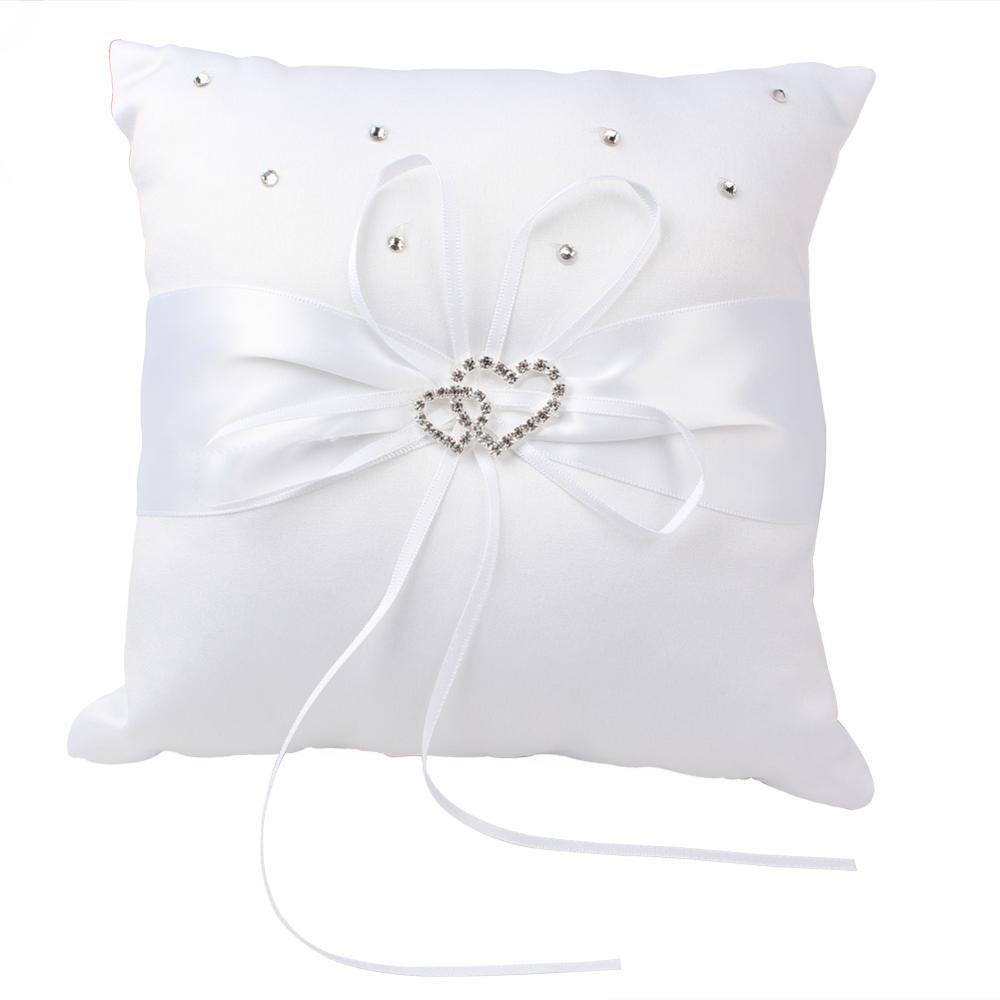 White Ring Bearing Pillow Holy Communion Christening Pillow Wedding Cushion