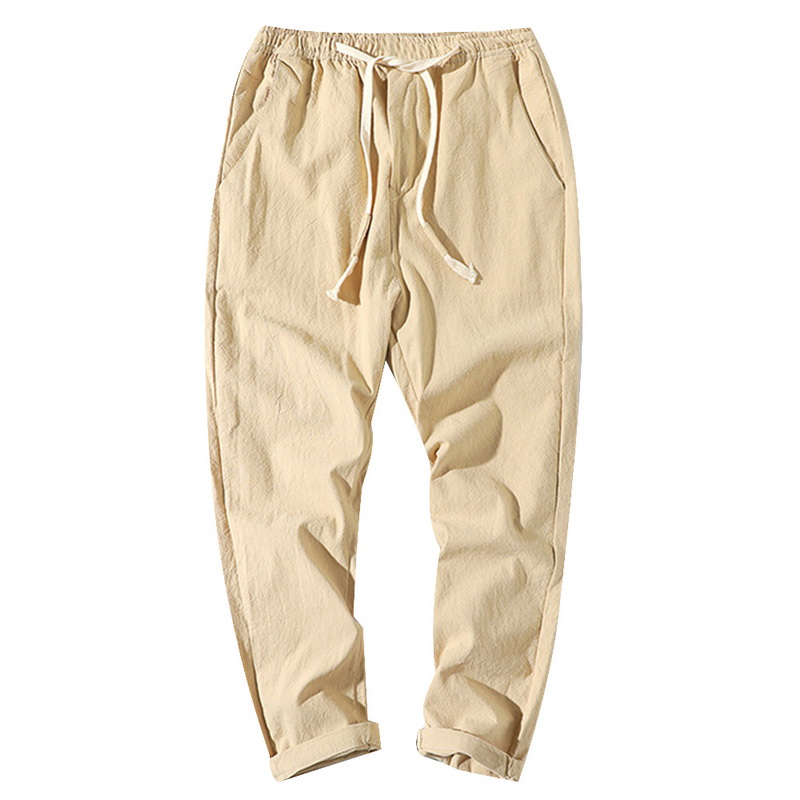Glittering time Casual Pants menclothing,Khaki,32,China