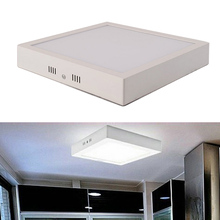 Free shipping 12W LED Surface Ceiling light AC85V-265V Kitchen Square type mounted SMD2835
