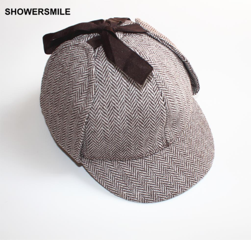 bded976db9996 Sherlock Holmes CHUVEIROS Boinas de Lã Chapéu de Inverno Unissex ...