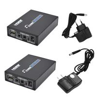 ALLOYSEED Mini Composite 1080P Audio Video HDMI To AV CVBS Terminal Video Connector Adapter with 3RCA S Video Cable for DVD VCR