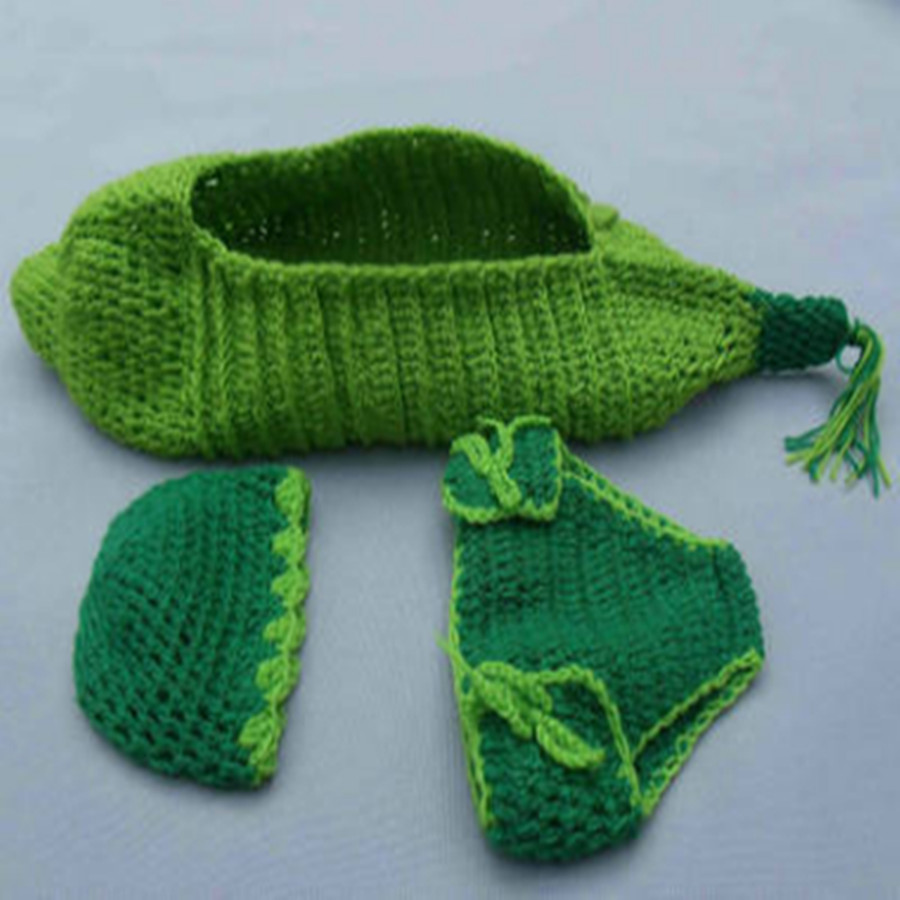 0e8b9476d baby beanbag Green Peasecod costume children's clothing for girl clothes  new born photography props newborns sleeping Bag overal-in Rompers from  Mother ...