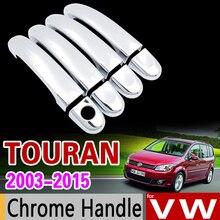 Para VW Touran 2003-2015 Chrome Cubierta de La Manija del Juego para Volkswagen 2005 2007 2009 2011 2013 Accesorios Del Coche de Estilo Pegatinas
