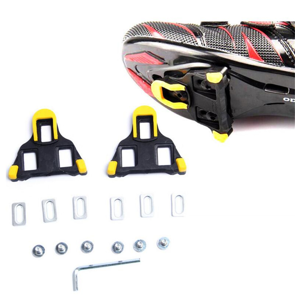 86da4dd58 1 Set Road Bicycle Self-locking Pedal Cleat Cycling Pedal Bike Bicycle Cleat  for Shimano Road SM-SH11 SPD-SL Yellow Red Colors
