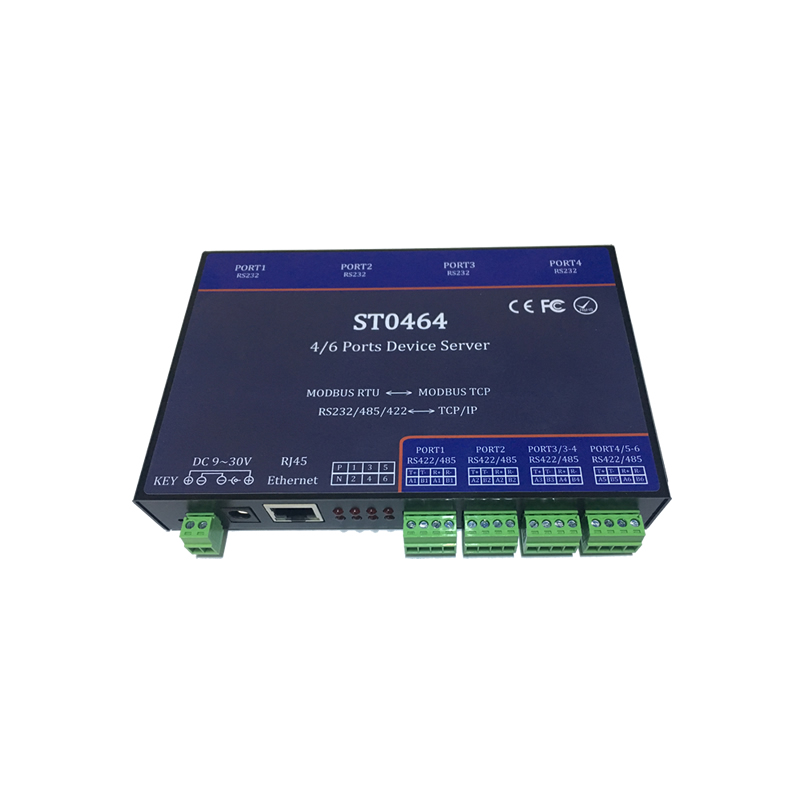 ST0464 four serial port server / Ethernet to serial port / RS232/485/422 serial port to networkST0464 four serial port server / Ethernet to serial port / RS232/485/422 serial port to network