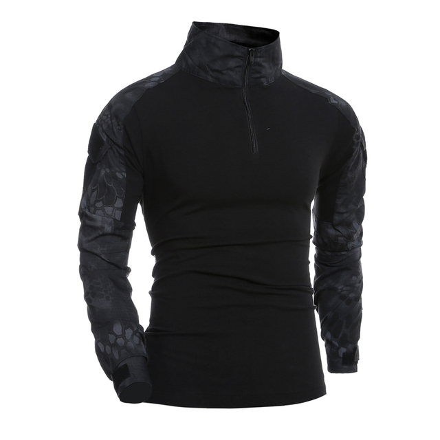 Боевая рубашка мужская с длинным рукавом в Военном Стиле Тактические футболки США Армейский Камуфляж комплексный Камуфляж для страйкбола специальные SWAT футболки для мужчин