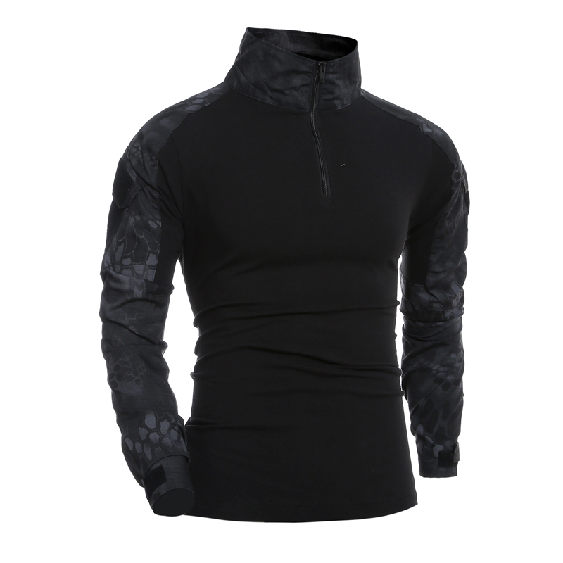 Combat Shirt Men Long Sleeve Military Style Tactical T-shirts US Army Camouflage Multicam Airsoft Special SWAT T Shirts For Man