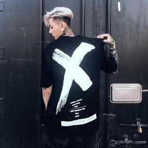 2017 Мужская и женская футболка в стиле хип-хоп, модная летняя футболка с надписью «X paint» золотого и серебряного цвета с короткими рукавами