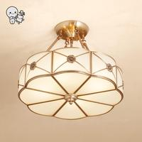 Bronze cobre redondo luminária de teto contemporânea arte deco luxo escandinavo pendurado lâmpada design quarto corredor e27