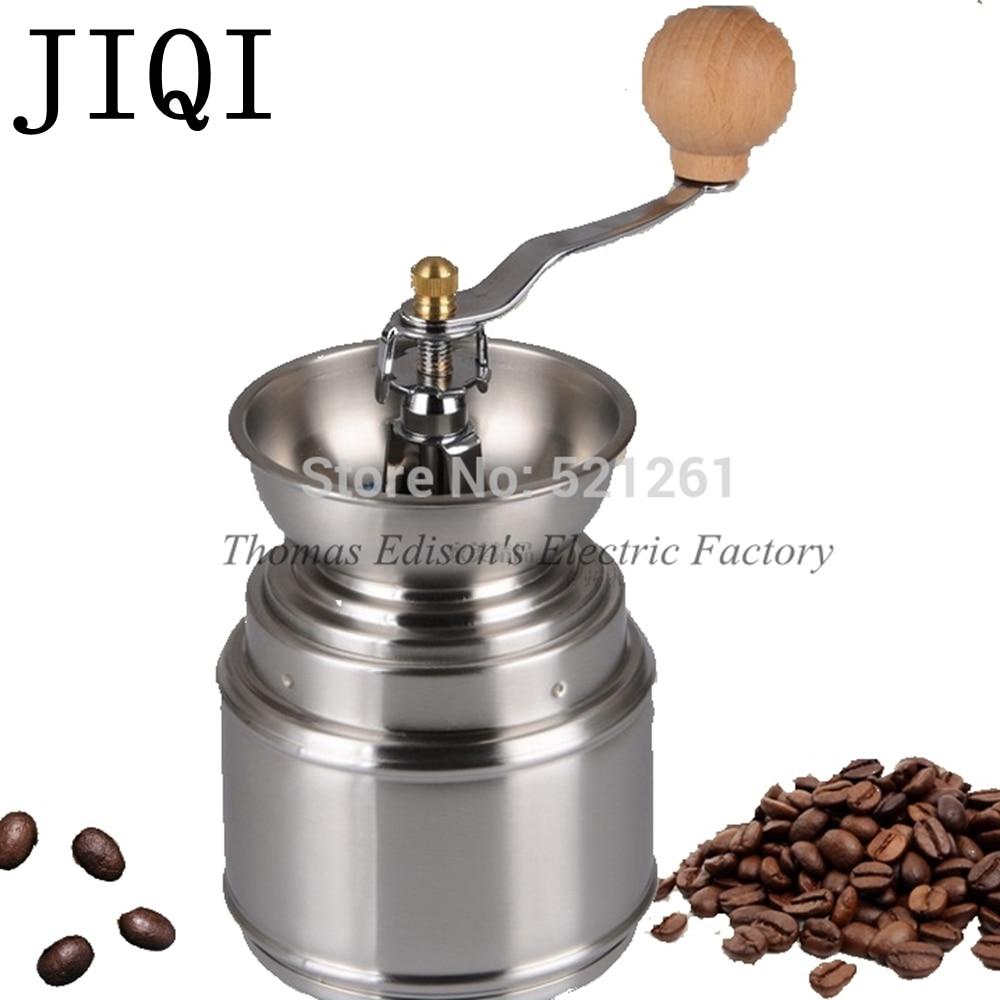 JIQI Manual Spice Bean Coffee Grinder Baby Rice Stainless Steel Burr Grinder with Adjustable Ceramic Core kitchen machine|coffee grinder|burr grinder|coffee bean grinder - title=