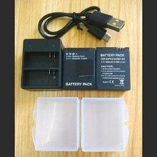 Gopro بطل 3 + بطارية 3.7 فولت AHDBT 301 شاحن بطارية USB شاحن مزدوج بطارية ل GOPRO3 AHDBT302 عمل كاميرا الملحقات
